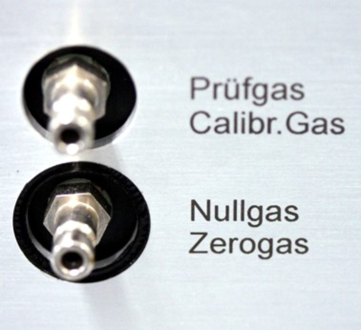 FID-ports for zero and calibration gas (c)